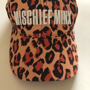 Hat in Animal Print with Title